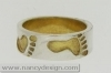 Gouden Ring Little feet